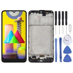 For Samsung Galaxy M31 With Frame LCD Replacement Display Digitizer Touch BLACK