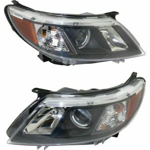 FIT SAAB 9-3 2008 2009 2010 RIGHT LEFT HALOGEN HEADLIGHTS HEAD LAMPS LIGHT PAIR