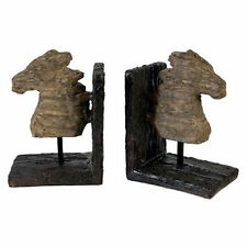 "Wood-Look Horse Bookend 11""x4""x7"" Pair - 74759"