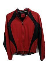 Specialized Women Red Cyclist Jacket Vest Lightweight Zipper Pouch Size Medium 8