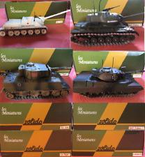 HACHETTE COLLECTION - 4 Miniatures Chars SOLIDO 2001 à 2004 avec boite