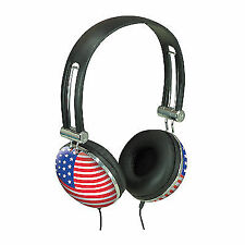 Soundlab A081B Stars and Stripes Flag Design Stereo Headphones