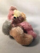 Pv04968 Vintage Handcrafted Artist Bear Signed Sally Winey- Rainbow Snuggle