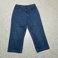 L.L. Bean Women's Denim Capri Jeans ~ Sz 10 ~ Blue ~ High Rise ~ 100% Cotton