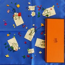 NEW+TAG+BOX Mens HERMES Des Fleurs Pour Le Dire SILK SMALL Pocket SCARF L. Cooke