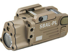Tactical CNC Making HM SBAL-PL Dual Beam Aiming Laser Pistol Flashlight ( Tan )