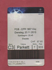 Orig.Ticket    Champions League  10/11    FC BASEL - CFR 1907 CLUJ  !!  SELTEN