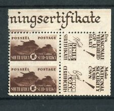 South Africa 1942-44 reduced 1s brown 'background added' CWS31d (SG104 var) MNH