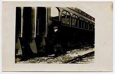Railroad Train 1st class Car ? Photo Postcard