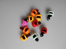 Lego® Friends Zubehör 10x Scooter/Roller Motorrad Helm mit Haar/Zopf Neu (5)