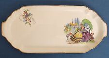 VINTAGE CRINOLINE LADY LAVENDER LADY SANDWICH BISCUIT CAKE TRAY TEA TIME