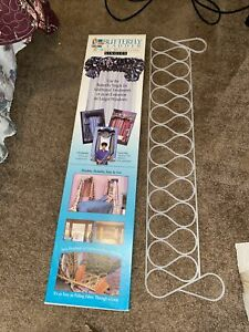 """2 Vtg 1993 Butterfly Ladder 36"""" Home Decorating Easy No Sew Curtains Valance New"""