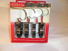 The Original Mantle Clip set of 4  Oil  Rubbed  Bronze Metal New in Box