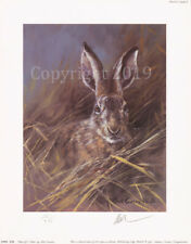 Mick Cawston 'Head of a Hare' Signed Limited Edition Hare Print