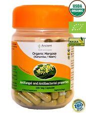 100% Organic Neem/Margosa Capsules-Antifungal and Antibacterial properties-600mg