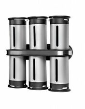 Wall Mounted Magnetic Spice Rack with 6 Canisters