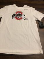 New Nike Mens Ohio State Buckeyes Short sleeve Shirt Size Large Red