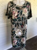 BNWOT Burlap Short Sleeve Rustic Floral A-Line Dress - XL