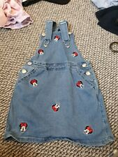 Disney minnie mouse Dress 6-7yrs | Denim pinafore/dungaree dress