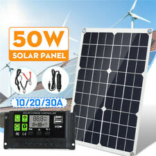 18V 50W Solar Panel USB Battery Charger 10/20/30A PWM Solar Controller  ELINK#