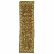 Hand-Tufted Treasure BROWN/GOLD Wool Rug 2' 3 x 8' Runner
