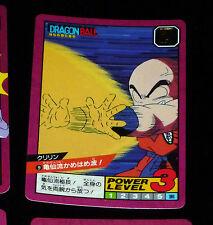 DRAGON BALL Z DBZ SUPER BATTLE POWER LEVEL PART 1 CARD CARTE 9 JAPAN 1991 NEUF