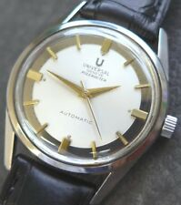 1950er UNIVERSAL GENEVE Polerouter MicroRotor Automatic Cal.215-9 ++ TRAUMUHR ++