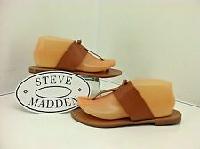 """Steve Madden """"Olivia"""" Tan Leather Thong Sandals. Size 8 M...."""