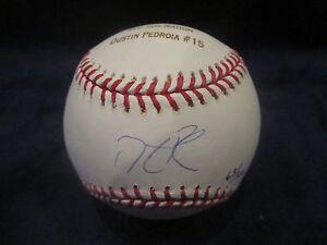 Dustin Pedroia Autographed & Engraved '07 WS Champs Baseball - JSA Cert