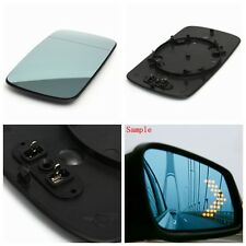 Right Blue Heated Wing Mirror Glass W/ Backing Plate For BMW 3 Series E46 Saloon