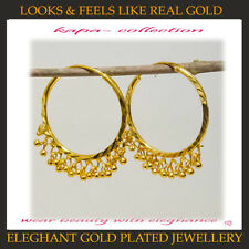 Hoops Earrings 24 mm diameter 18 k Gold Plated Jewellery designer