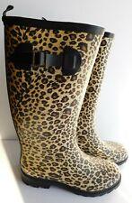Heavy Tiger Animal Print Tall Women's Rubber Rain Boots Size M 7-8
