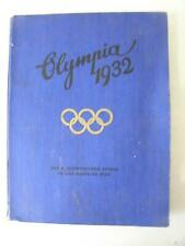 1932 LOS ANGELES OLYMPICS GERMAN BOOK CIGARETTE CO CARDS 142 PGS FOLD OUT GRAPH