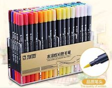 Twin Brush Watercolor Markers& Fineliner Tip 80 Colors Manga Sketch Art Supply