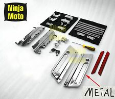 Chrome Latches Cover Hinge Saddlebag Latch Hardware Set Kit for Harley Touring