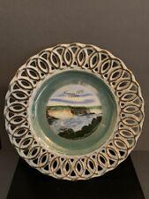 "Niagara Falls CANADA 7 1/4"" Plate made in Japan Reticulated"