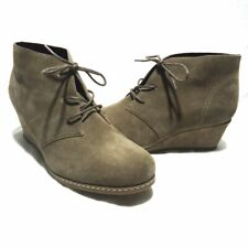 Bjorndal Rachel Taupe Suede Lace Up Booties Boots Size 10W