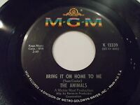 The Animals Bring It On Home To Me / For Miss Caulker 45 1965 MGM Vinyl Record