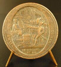Médaille France Révolutionnaire Monneron monnaie de Confiance de Cinq Sols medal