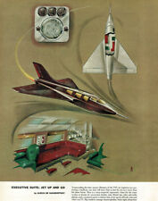 Alexis de Sakhnoffsky Executive Suite: Jet Up and Go 1956 Streamlined Sweet!