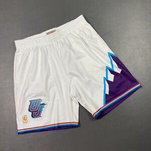 100% Authentic Mitchell & Ness 96 97 Utah Jazz Swingman Shorts Size 48 XL Mens