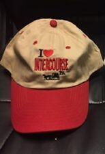 I HEART INTERCOURSE KHAKI WITH RED BILL CAP HAT NEW