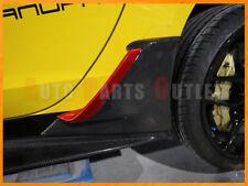 Z06 Style Carbon Fiber Rear Fender Brake Scoop For 14-17 Corvette C7 Stingray