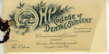 1890s University of Cincinnati Dental Dept Commencement Booklet Great Graphics