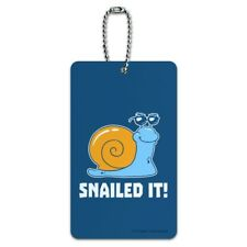 Snailed It Snail Nailed Funny Humor Luggage Card Suitcase Carry-On ID Tag