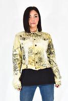 JUST CAVALLI Giubbotto Multicolore In Cotone Taglia S Stile Casual Donna Woman