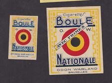 Anciennes  étiquette  allumettes Belgique BN77778 Cigarettes La Boule