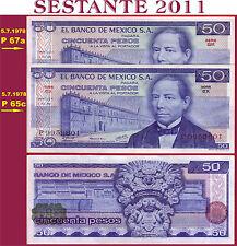 (com)  MEXICO  -  50 PESOS 5.7. 1978 Scarce  - Serie EX - P 65c -  UNC