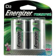 2 Pack Rechargeable NiMH D Batteries