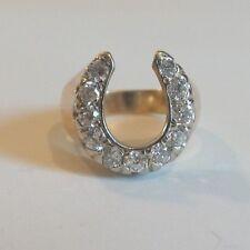 14K GOLD MENS 1.75 CT. DIAMOND HORSESHOE RING, SIZE 10.75, APPRAISED $3775.00